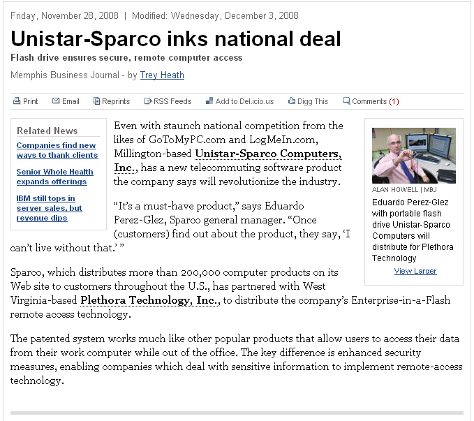 Unistar-Sparco inks national deal